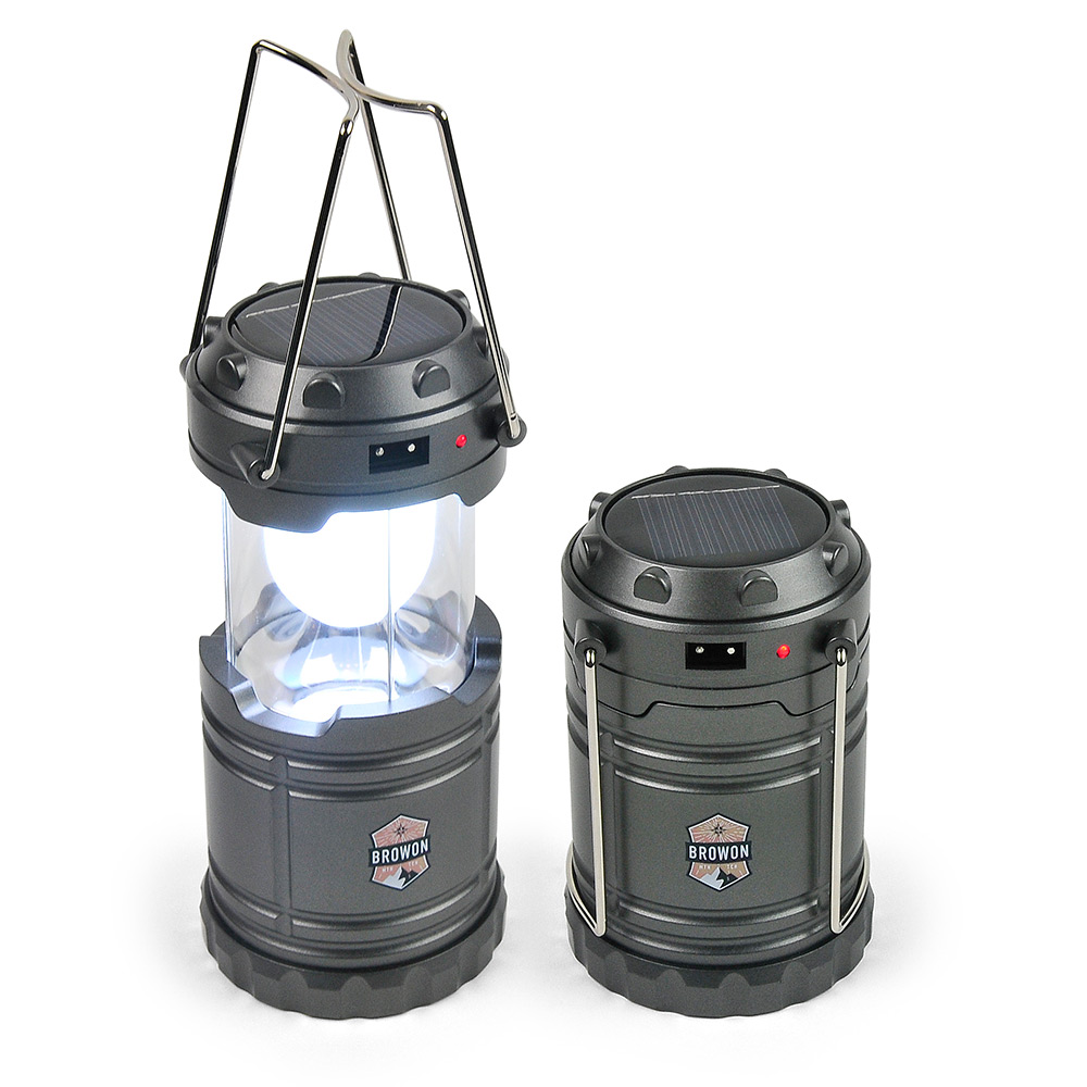 Gray Collapsible Lantern Browon