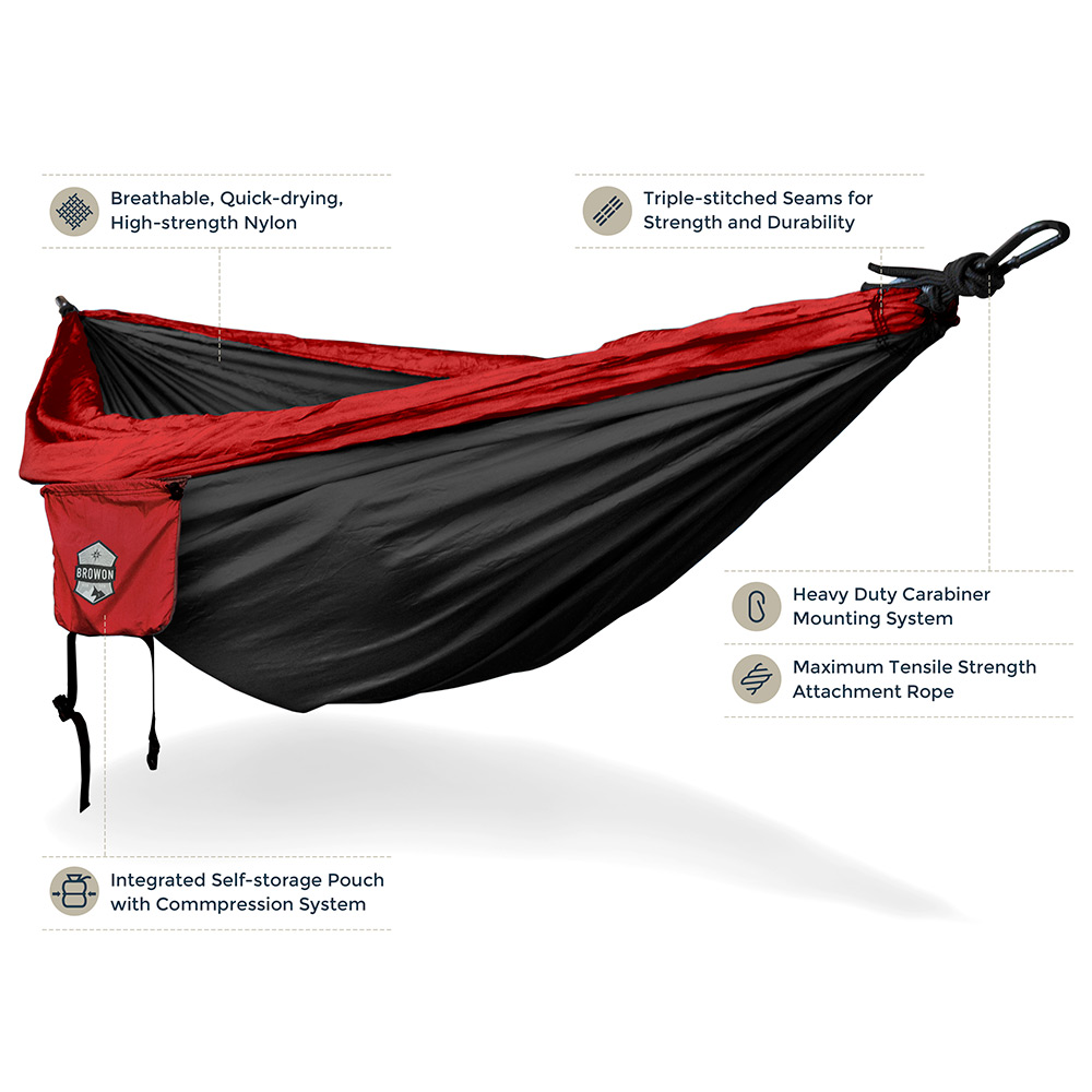 Red Black Hammock
