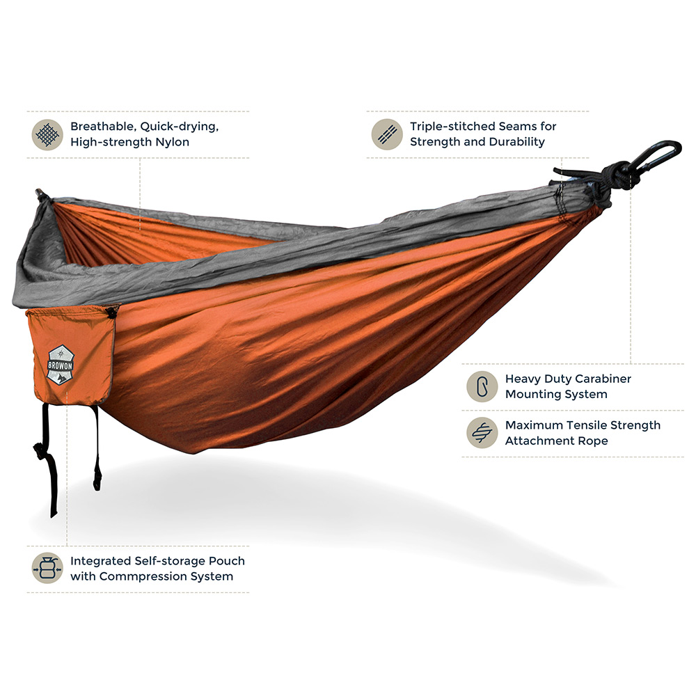 GRAY ORANGE Hammock